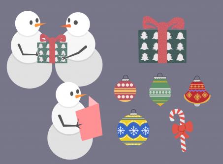 Snowmen and Ornaments