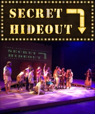 Urinetown: SECRET HIDEOUT for background projection during the performance