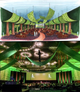 Fairytale Forest Main Event Room Rendering and Installation