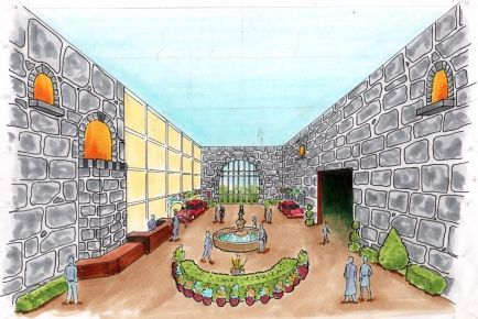 Rendering of the main reception area at 2018 Phoenix Family Un-Gala.